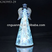 Hot sale Handmade glass sparked wholesale angel 8'' gift for christmas