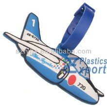 New fashion silicone airplane luggae tag in stock