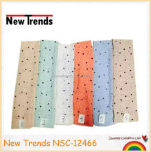 Cute big and small polka dots pattern TR cotton scarf