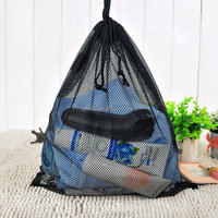 Promotion Black mesh laundry bag Hotel home drawstring wash bag