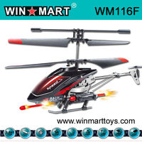 WM116F 2013 NEW 3.5Ch Alloy RC Helicopter with 6 Missiles