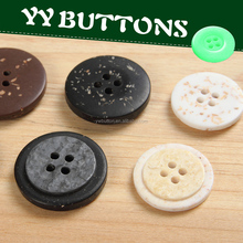 imitated 20mm coconut shell button with two circles round rim