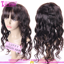 Factory wholesale new fashion products lace front wig men 100% unprocessed virgin side bang lace front wig ponytail