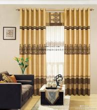 100%polyester plain dyed window curtain for cafe home hotel Living Room Curtains