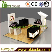 Simple and natural cosmetic kiosk/cosmetic store customization with LED decoration