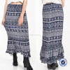 guangzhou clothing factory latest skirt design pictures gypsy clothing ruffle long skirt for women