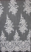 Dentelle Lace Fabric, Wedding Beaded Lace Fabric With beads and cord