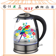 Promotion Commercial 1.7L High Quality Glass Color Changing Electric Kettle