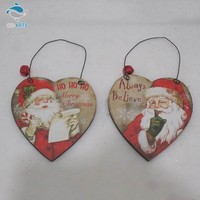 Hottest durable long lasting heart shape small bell decorative christmas hanging ornament