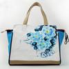 lady floral canvas handbag