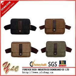 Mens Canvas Belt Waist Bag Travel Fanny Pack Shoulder Hip Bag Pocket Wallet