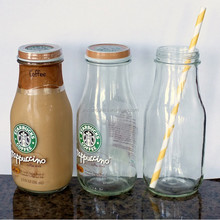 square drinking bottle with metal caps and straws wholesale