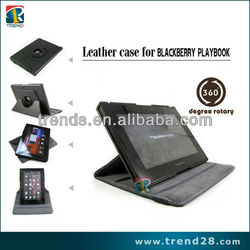 Stand leather case for blackberry playbook