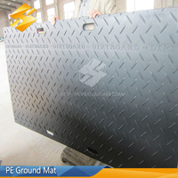 Non-slip Mat for large vehicles HDPE temporary ground protection antiskid plate