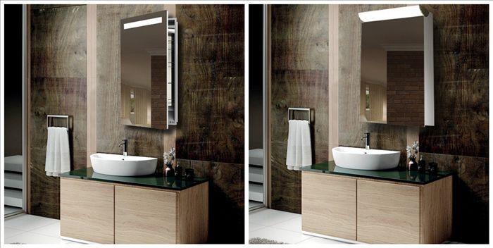 Illuminated Bathroom Mirror Cabinets Demister With Shaver Socket View Bathroom Mirror Cabinets