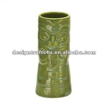 Custom Made Light Green Ceramic Tiki Mug