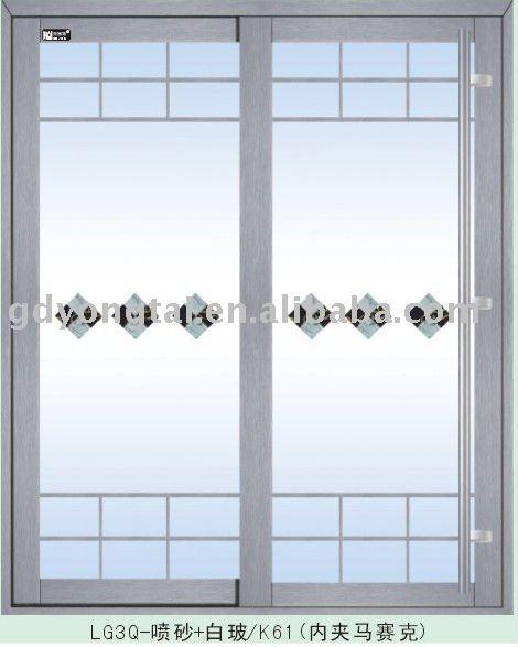Aluminio corredizas exterior puertas de vidrio ventanas - Puerta de cristal precio ...