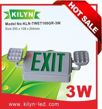 China professional factory UL listed Ni-Cd battery Twin head emergency lamp combo