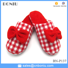 bright-colored bow lady girls slippers for winter and bedroom
