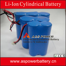 LED Light&LCD&E-Scooter and superior power tools battery 2200mAh Li-ion 7.4V pack by 18650 battery cell
