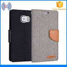 Goospery Canvas Fancy Wallet Flip Diary Case Cover For Samsung Galaxy S2 S3 S4 S5 S6 edge S6 edge plus