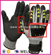 TPR Impact Protective Mechanic Gloves for Oil and Gas Industries/Non-Slip Gloves