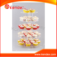 tower clear acrylic display stand for cupcake bakery shop supermarket