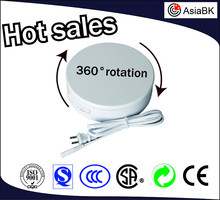 AsiaBK brand dia 20cm,H:6cm white/black 360 degrees electric rotating display turntable for model/fashion/clothing for hot sale