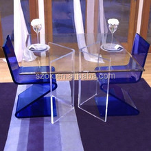 2015 clear glass top modern acrylic dining tables for sale