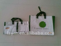 button closed pp woven grocery sling bag