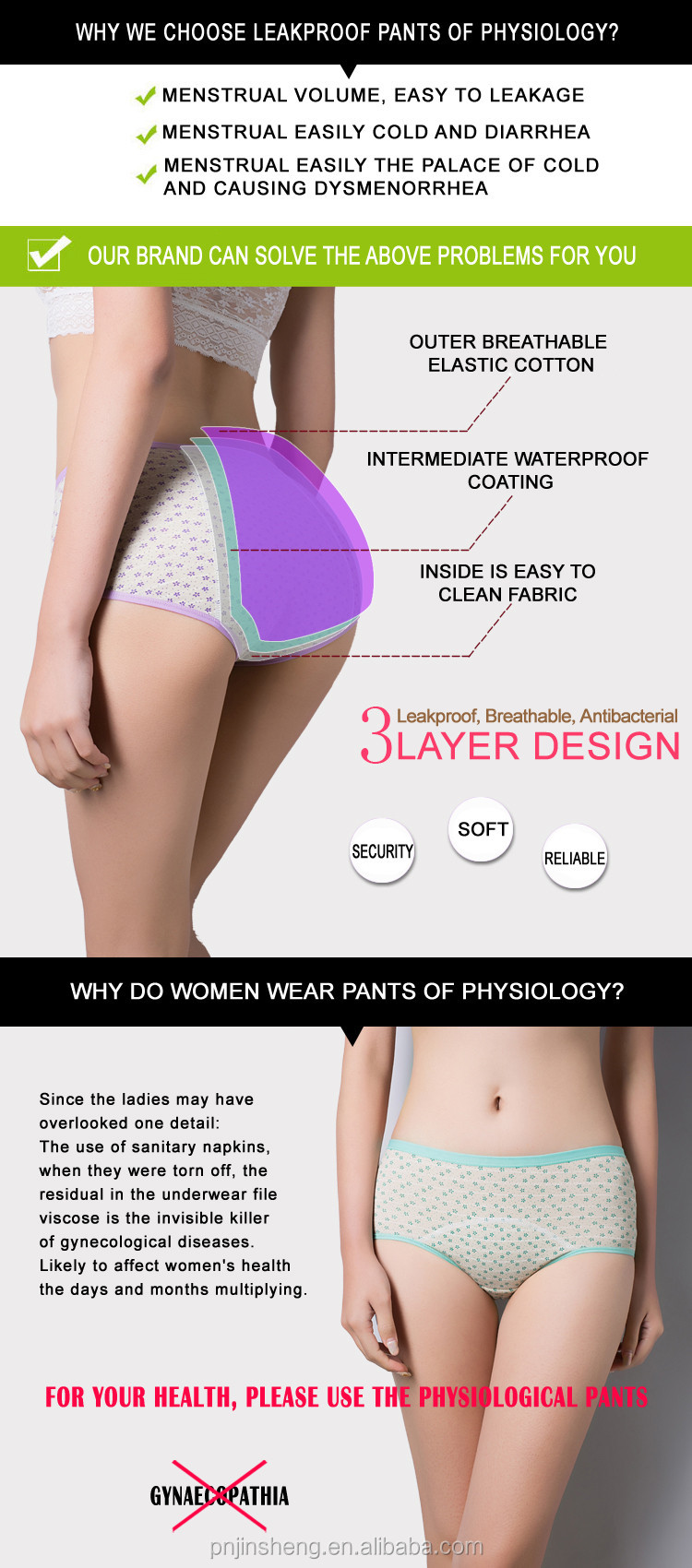 Young Girl Intimates Physiological Panties Menstrual Modal ...