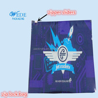 reusable pe printed plastic bags for underwear package with slider