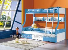 8815B HOT children wooden double bed designs, modern children bunk bed, double over double bunk beds