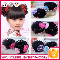 weaving wig flower hair accessory hair ring baby children hairpiece B027