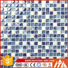 uniuqe design blue mosaic tile, porcelain mosaic tile, buy mosaic tiles