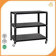 Portable tool table with four wheels metal table home furniture office furniture
