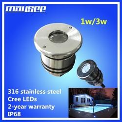 stainless steel rgb ip68 led pool light