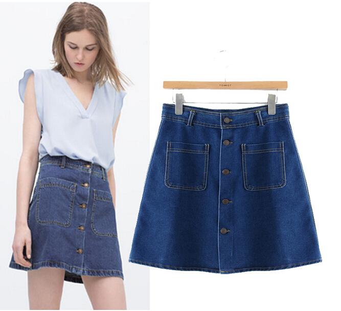 ey0594a 100 cotton denim overalls skirt high waist