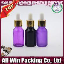 frosted bottle glass e liquid glass dropper bottle for essential oil glass jar