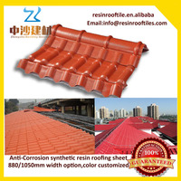 Custom terracotta red roof tile with spanish royal style sheet