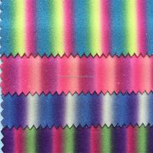 High quality rainbow glitter fabric for decoration HX440