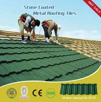 Waviness Stone Coated Roof Tile Aluminum Zinc Roofing Shingle Colorful Sand Coated Steel Roof