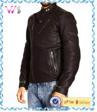 Super Warm Sheep Skin fur Winter Zipper up Jackets PU Leather Jackets for men