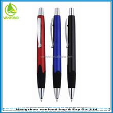 Good quality plastic barrel and rubber holder ball pen parts with logo printing