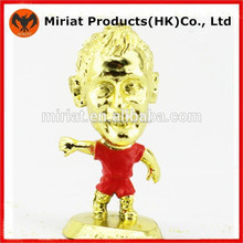 Oro- plateado pequeña la fantasía de plástico jugador de fútbol de la figura