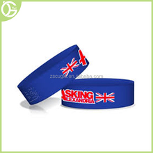 Popular Flag Pattern Silicone Cheap Custom Bracelets For Events Gifts