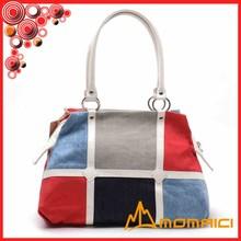 Color matching bags 4 color canvas shoulder bag girls candy color handbag