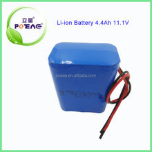 Rechargeable 18650 4.4Ah 12V Lithium ion Battery For Emergency Light