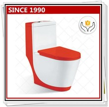 1003R-1 Coloured One Piece Toilet Bowl with Red and White Color