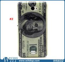 Ultra Slim Soft TPU Case for Sony Xperia E4, US Dollars Design